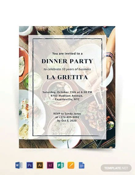 Dinner Party Flyer Template