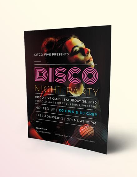 Disco Flyer Download