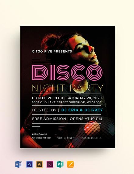 Disco Flyer Template