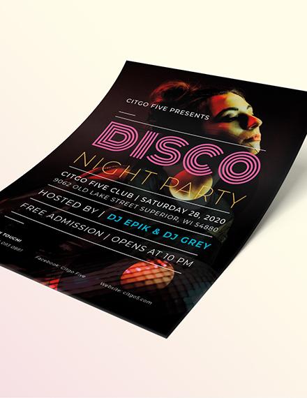 Sample Disco Flyer