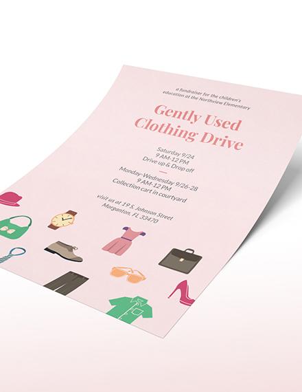 Sample Donation Flyer