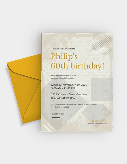 th Birthday Invitation Card Download