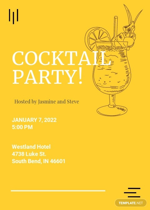Simple Cocktail Party Invitation Template