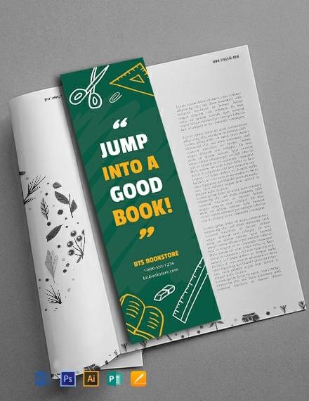 Free School Bookmark Template