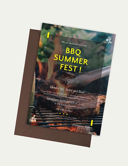 BBQ Invitation Download