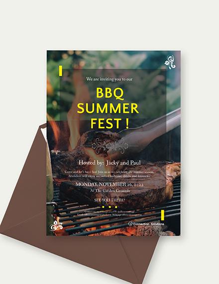 BBQ Invitation Sample