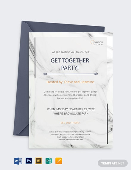 Get Together Invitation Template