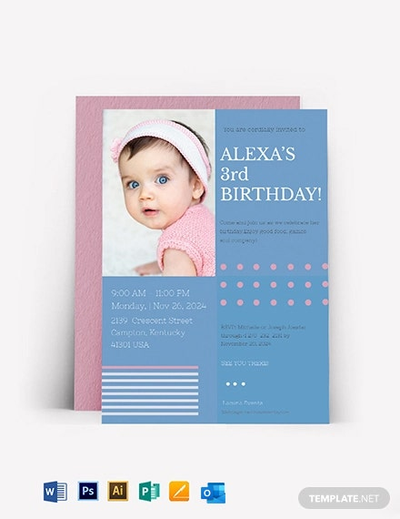 Kids Birthday Invitation Template