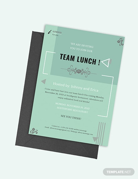 Lunch Invitation Download