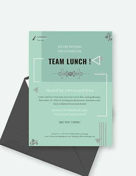 Lunch Invitation Sample