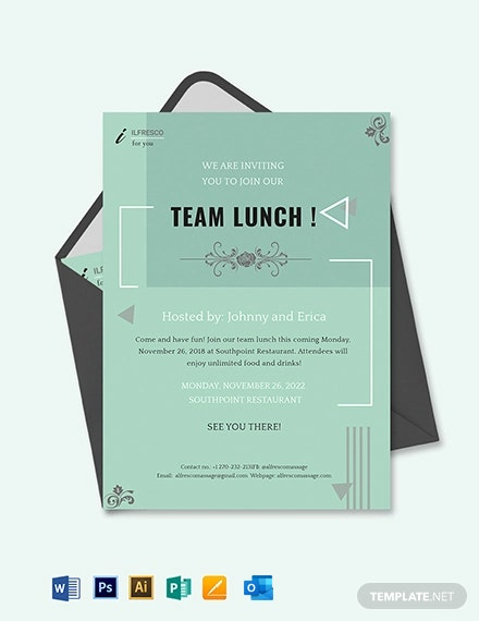 Lunch Invitation Template