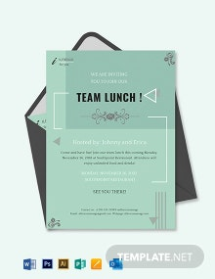 Lunch Invitation Template