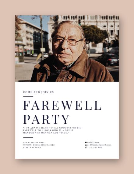 Farewell Flyer Template
