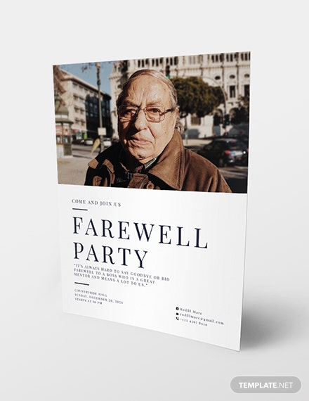 Farewell Flyer Download