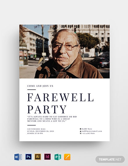 farewell flyer template 1