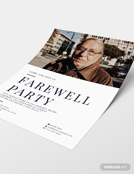 Sample Farewell Flyer