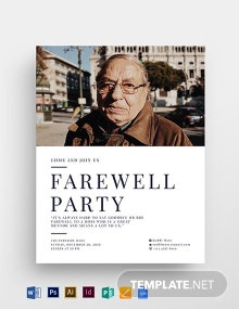 Farewell Flyer Template