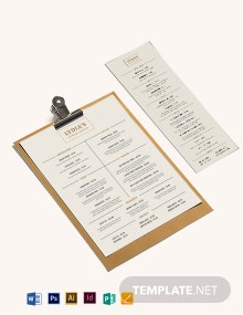 Catering Menu Template