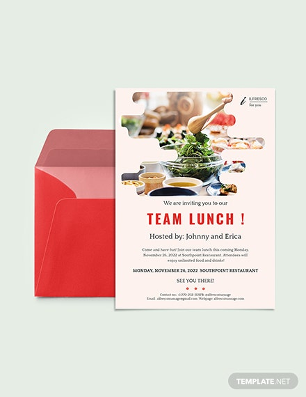 Lunch Party Invitation Download