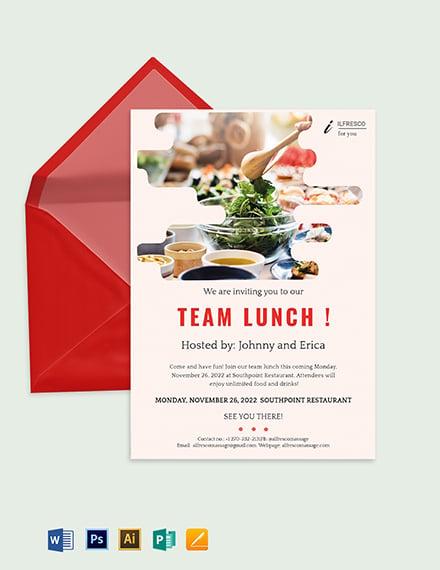 Free Team Lunch Invitation Template Download 651 Invitations In