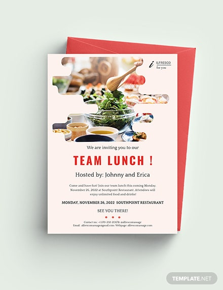 Lunch Party Invitation Template Word Psd Apple Pages