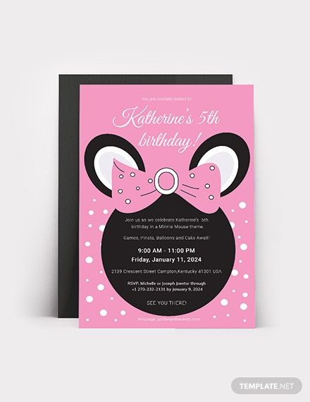 Minnie Mouse Birthday Invitation Download
