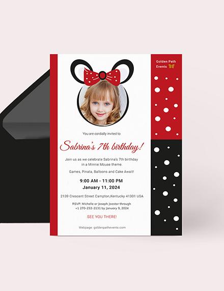 Minnie Mouse Invitation Download