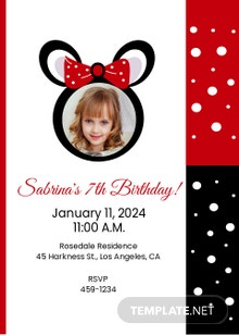 Minnie Mouse Invitation Template