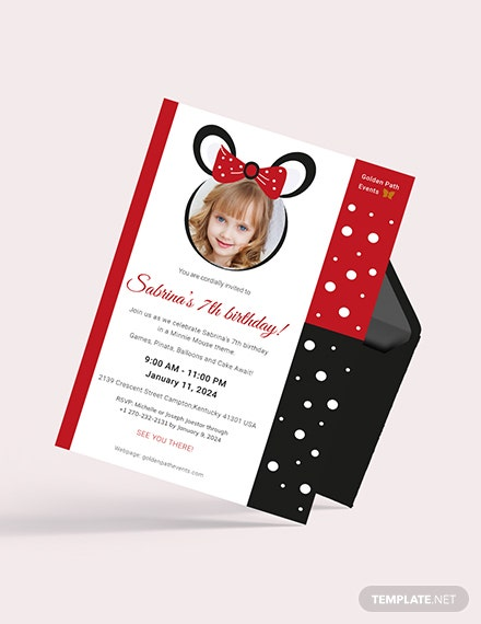 Sample Minnie Mouse Invitation