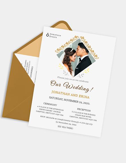 Photo Wedding Invitation Download