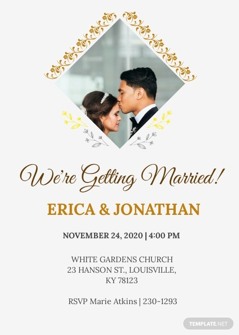 Photo Wedding Invitation Template.jpe