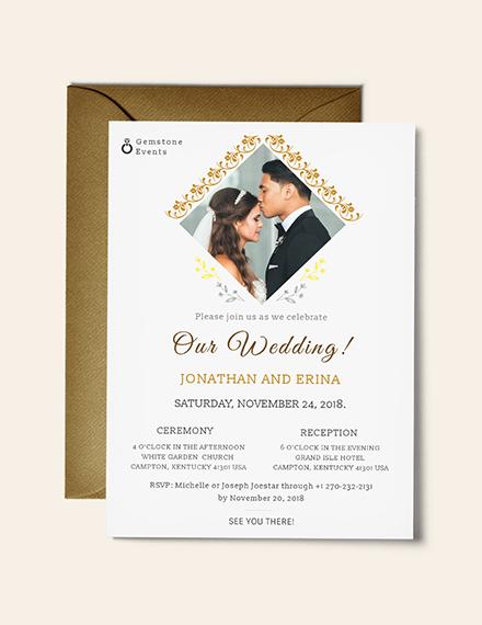 Photo Wedding Invitation Template