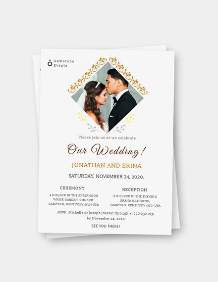 Sample Photo Wedding Invitation