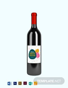 Free Easter Wine Label Template