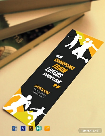 Free Sport Bookmark Template