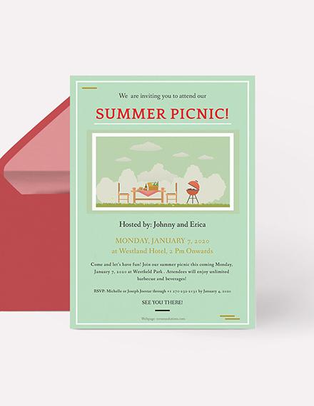 Picnic Invitation Download