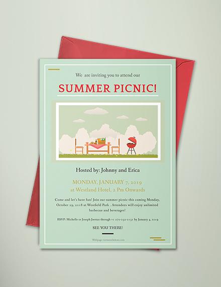 free picnic party invitation template download 344 invitations in
