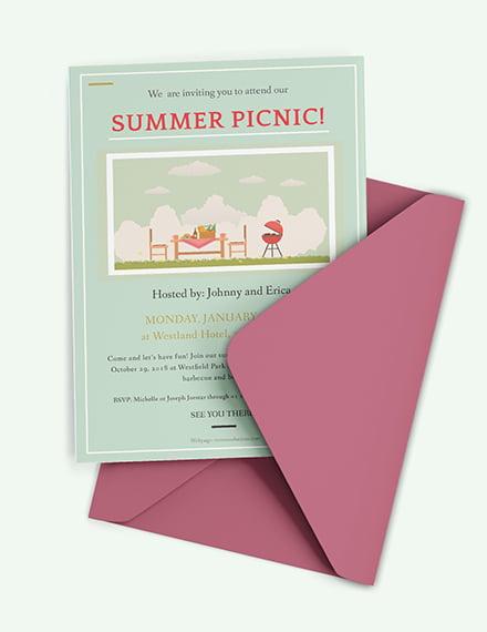 free company picnic invitation template download 537