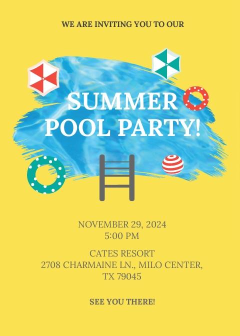 Pool Party Invitation Template.jpe