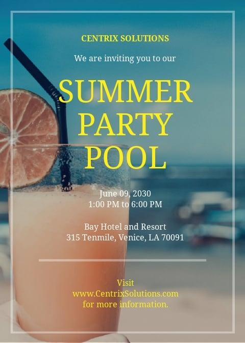 Summer Pool Party Invitation Template.jpe