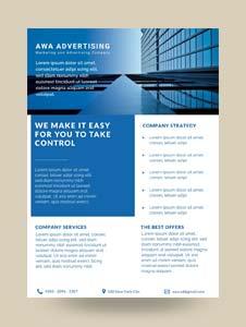 Free Advertising Company Datasheet Template