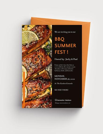 Sample BBQ Party Invitation