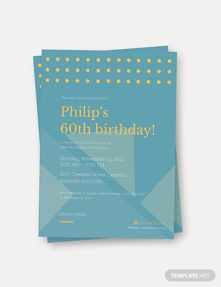 Sample Simple th Birthday Invitation Card