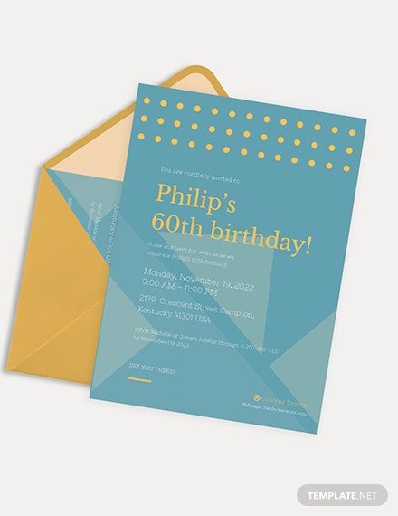 Simple th Birthday Invitation Card Download
