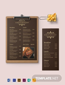 Retro French Menu Template