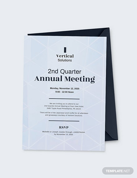 Annual Meeting Invitation Card Download