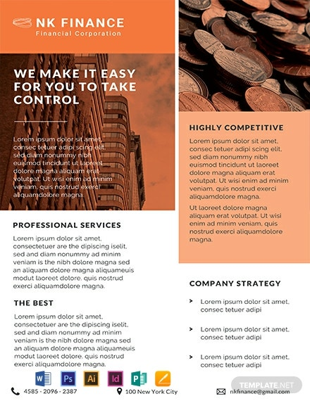 Financial Planners Datasheet Template