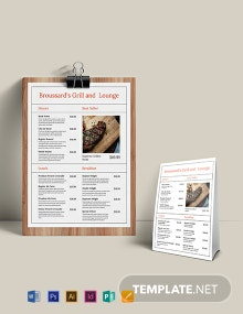Simple French Menu Template