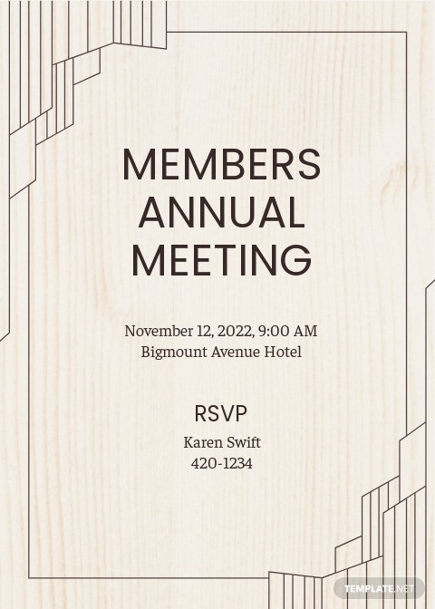 Annual Meeting Invitation Template