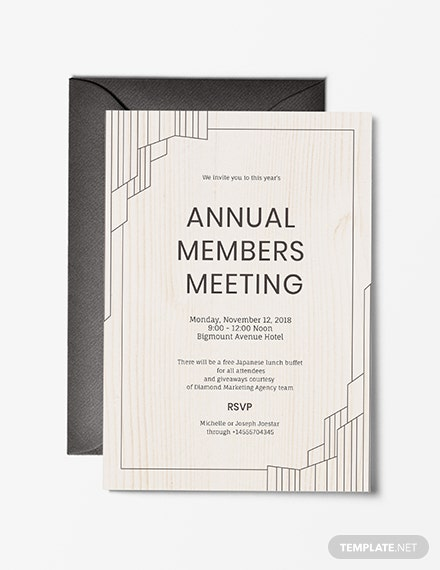 FREE Meeting Invitation Template: Download 531